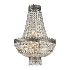 Crystal Lighting Palace French Empire 6 Light Basket Chandelier Antique Bronze