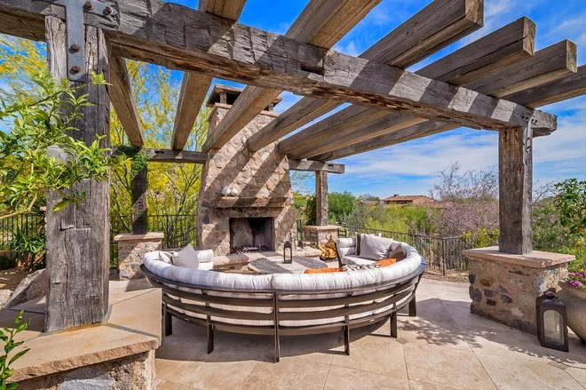 Southwestern Patio by California Pools & Landscape