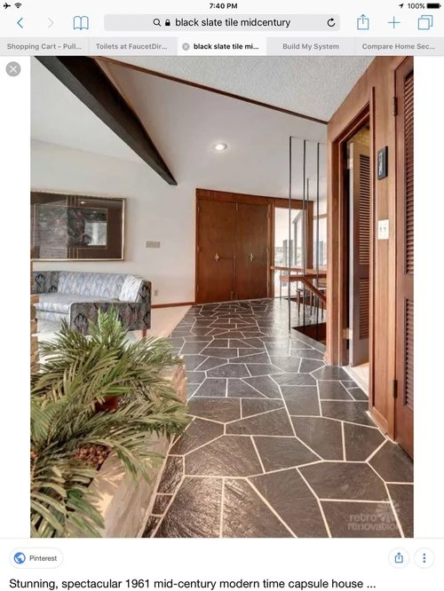 help finding mid century black slate tile