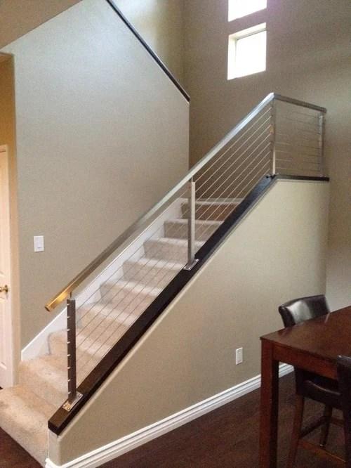 Diy Railing Houzz | Cable Stair Railing Diy