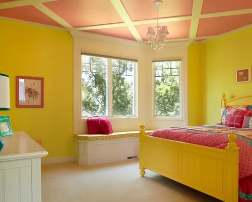 Black And Yellow Interior Design Color Scheme Contrasting Bedroom Decorating Ideas