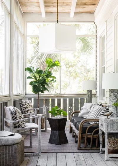 Beach Style Porch by Nathaniel Ebert