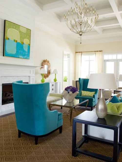 Lime green turquoise navy blue living room - Navy blue and turquoise living room ...