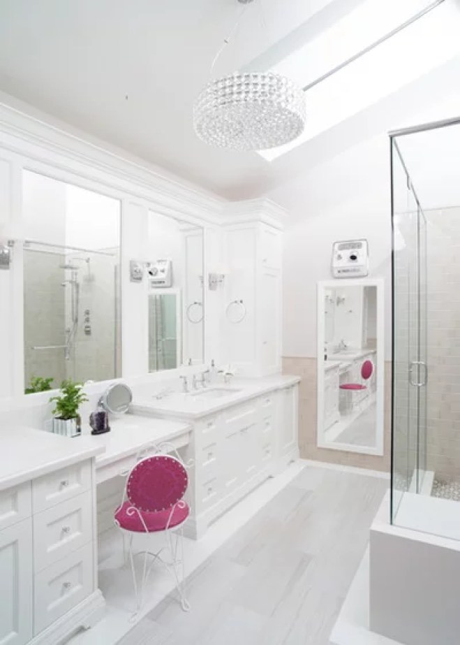 Transitional Bathroom by Sacha Nizami Design