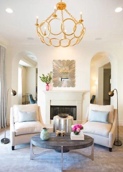 Transitional Living Room by Lori Dennis, ASID, LEED AP