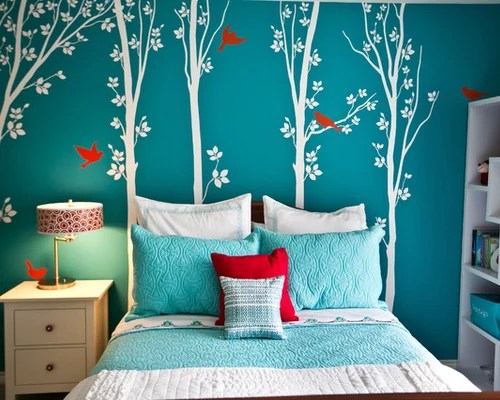 Turquoise Girls Bedroom Houzz