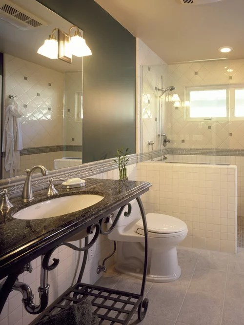 Half Wall Shower Home Design Ideas Pictures Remodel And