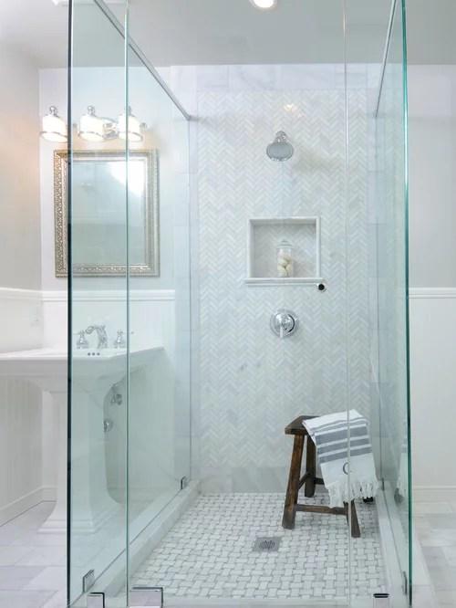 Herringbone Shower Home Design Ideas Pictures Remodel