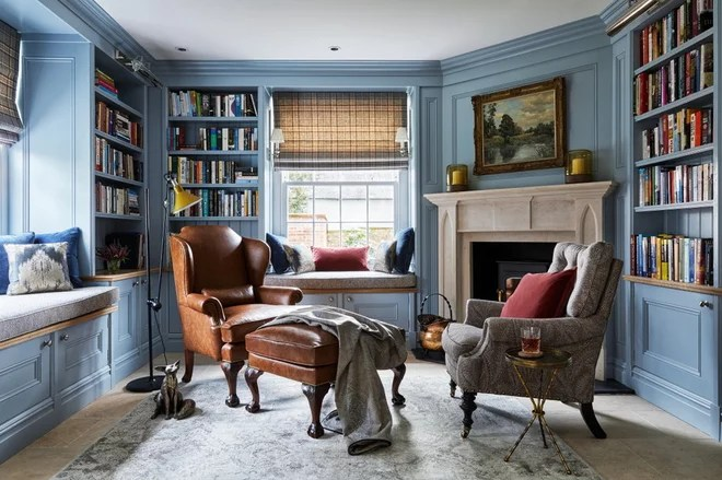 Traditional Home Office by Keeley Green Interior Design
