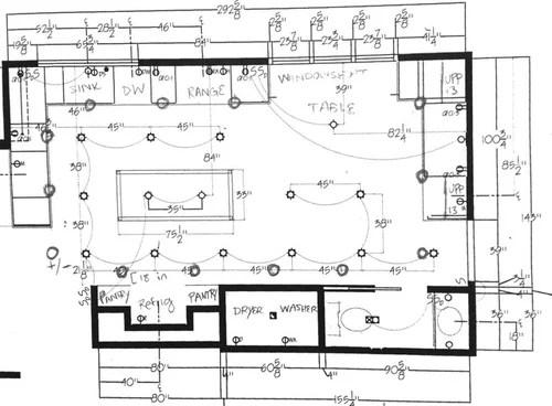 help kitchen lighting placement plan