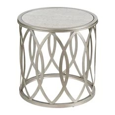 Scatter Living Room Table Silver Finish