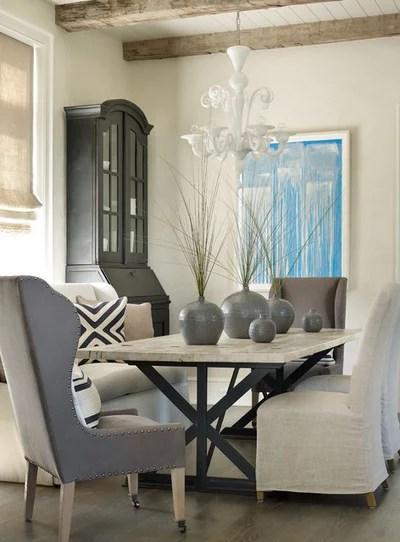 Beach Style Dining Room by Beth Webb Interiors