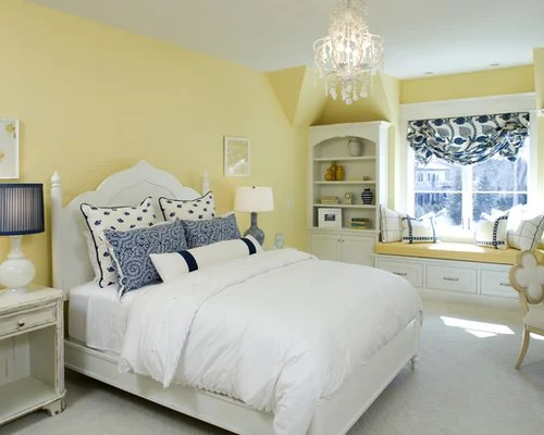 Wonderful Yellow Bedroom Ideas Combining Gray Dry And Furniture