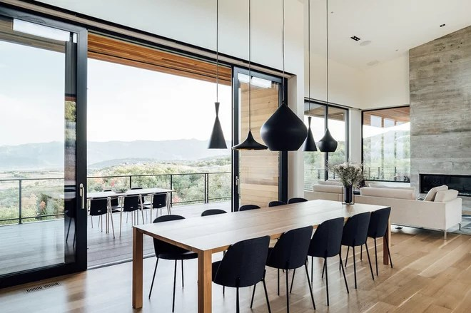 Modern Dining Room by Park City Design Build
