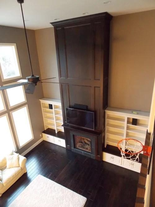 Two Story Fireplace Houzz