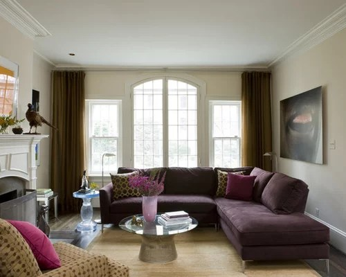 Purple Sectional Home Design Ideas Pictures Remodel And