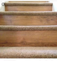 Carpeting Stair Treads Only   Stair Treads For Carpeted Steps   Carpet Protectors   Skid Resistant   Bullnose Carpet   Anti Slip Stair   Wood