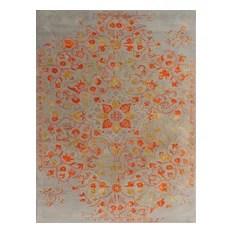 Artist Area Rug Rectangle Silver-Orange 8'x11'