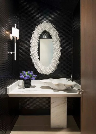 Contemporary Powder Room by Denise McGaha Interiors