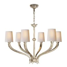 Ruhlmann Chandelier Polished Nickel Chandeliers