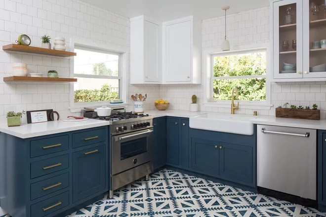 Transitional Kitchen by Kelly Martin Interiors