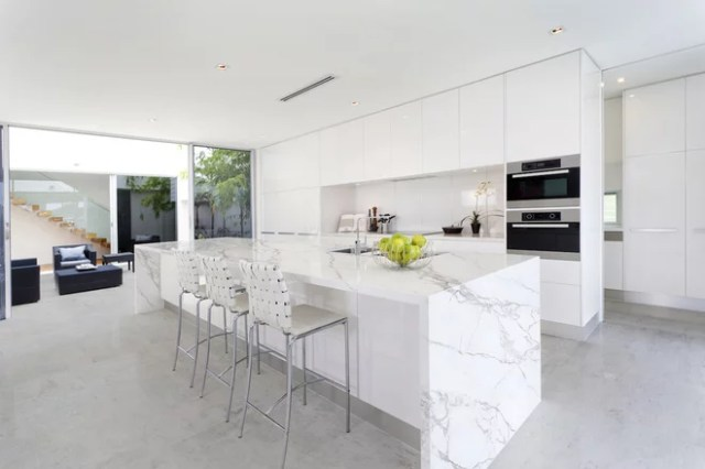 Contemporary Kitchen by Omicron Granite & Tile