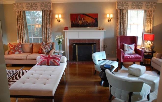 Traditional Living Room by Lisa Borgnes Giramonti