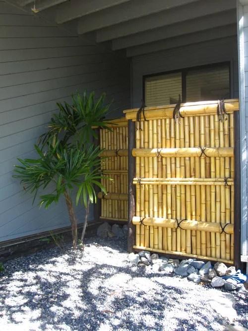 Mahogany Bamboo Fence Installed