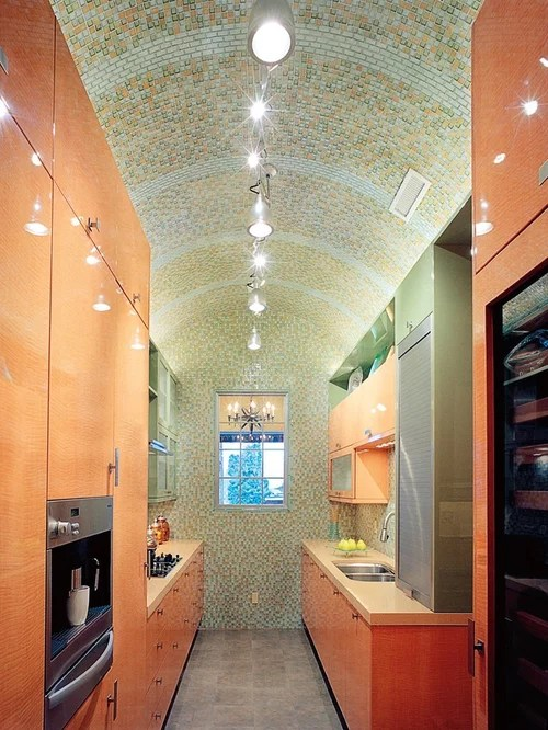 Contemporary Kitchen Vaulted Ceiling