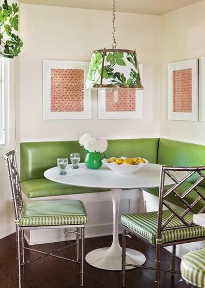Transitional Dining Room by Caitlin Moran Interiors