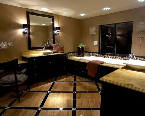 Black And Tan Bathroom Home Design Ideas, Pictures