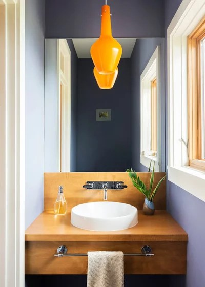 Contemporary Powder Room by Alchemy Design Studio
