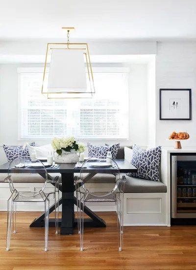 Transitional Dining Room by Haus Interior Design