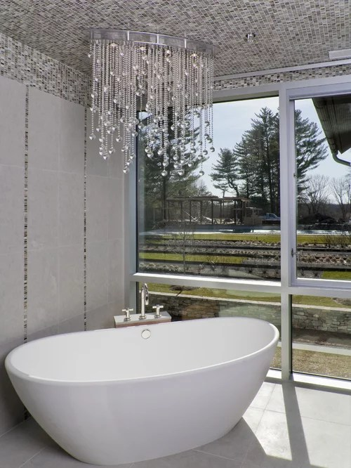 Chandelier Above Tub Home Design Ideas Pictures Remodel