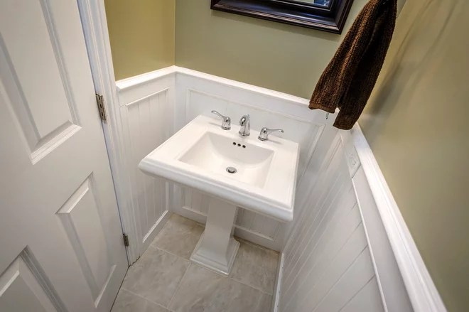 Traditional Powder Room by Steven Corley Randel, Architect