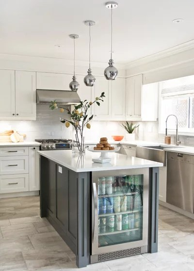 Transitional Kitchen by Erin Interiors