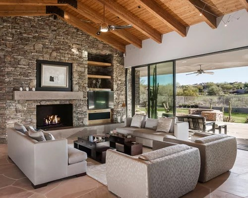 Best Stone Wall Fireplace Design Ideas Amp Remodel Pictures