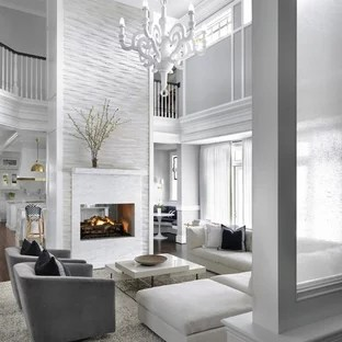 75 Most Popular Transitional Living Room With A Two Sided Fireplace Design Ideas For 2019