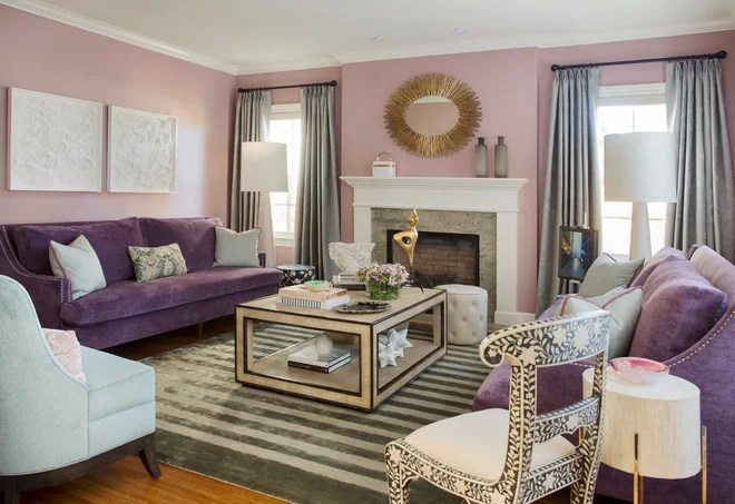 Transitional Living Room by Peruri Design Company