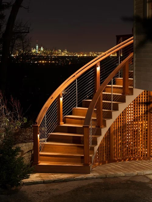 Curved Deck Stairs Design Ideas Amp Remodel Pictures Houzz