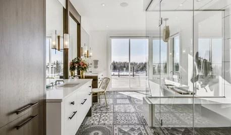 cement tile in bathroom