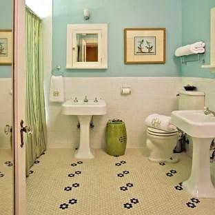 hex tile flower pattern houzz