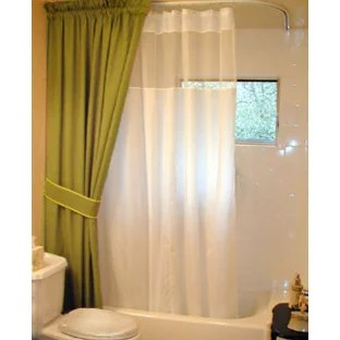 ceiling mounted shower rod houzz