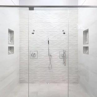 75 beautiful modern beige tile bathroom