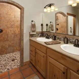 southwestern terra cotta tile bathroom