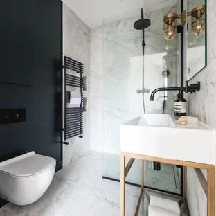 75 beautiful black marble tile bathroom