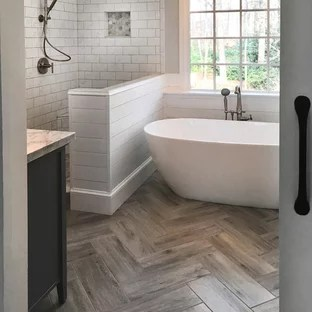 farmhouse ceramic tile bathroom