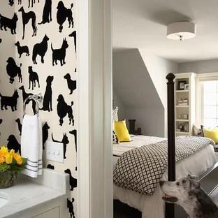 black white silver bedroom houzz
