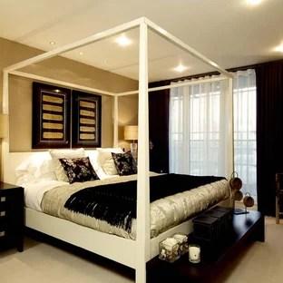 Tan And Black Bedroom Houzz