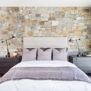 75 beautiful bedroom with brown walls